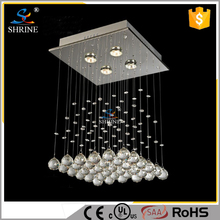 Amber Crystal Ball Square Chandelier Light Modern In China