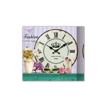 Wholesale good quality easy hanging classic roman numbers canvas wall clock