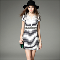 Ladies Office Wear Casual Women Elegant Dresses Dress With Lace Fabric