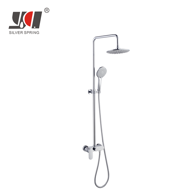 china wholesale free shipping thermostatic bathroom rain mixer tap faucet rainfall shower head set