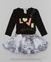 Black Zebra Neon Tutu Dress - Infant & Toddler