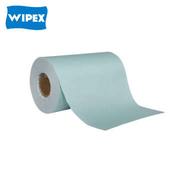 Spunlace nonwoven cleaning cloth wipes on a roll