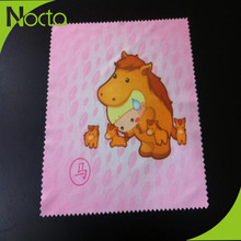 Wholesale printed animal logo microfiber cloth for screen cleaning