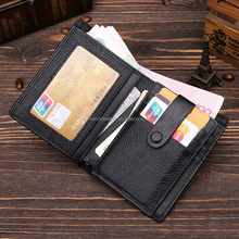 Trendy emboss genuine leather wallet for men