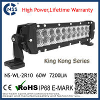 2 row 10inch led beacon light bar epistar lights off road