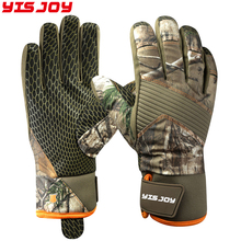 Good quality outdoor sport gloves anti-slip camo neoprene hunting gloves