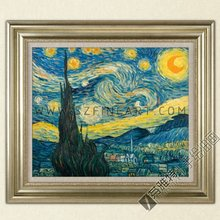 The Starry Night, 100% Handmade Impression Oil Painting Canvas Reproduction of Vincent Willem van Gogh