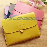 Fashionable Buckles Sleeve PU Leather Cover Case Mobile Phone Bag for iPad 2 ipad3