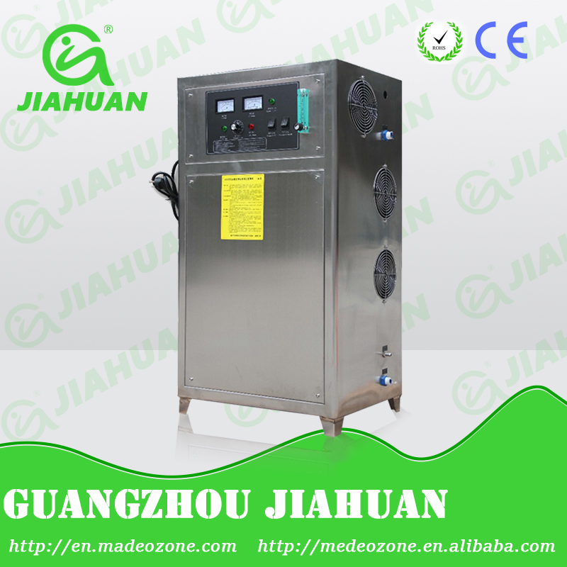 ozone generator water for swimming pool treatment to reduce chlorine chemical use / ozone generator water