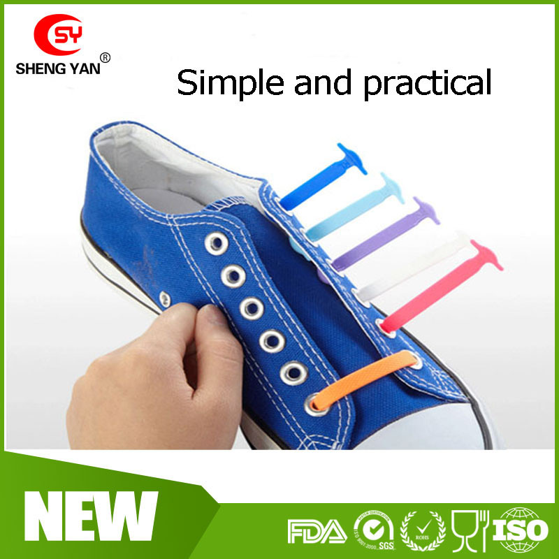 High Quality Silicone Elastic Running Shoelaces Outdoor Sports Shoe laces