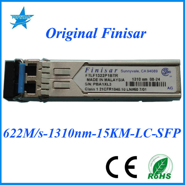 Original Finisar SFP FTLF1322P1BTR 622Mbps 1310nm 15km Finisar fiber optic module nano transceiver