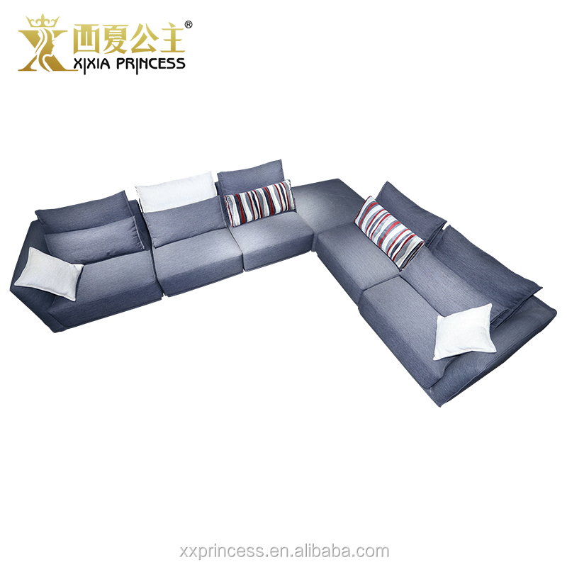 Import furniture from China big sectional sofa, house living room furniture sleeping sofa bed corner sofa with chaise lounge