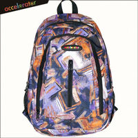 painted style newest pattern backpack men high school bag