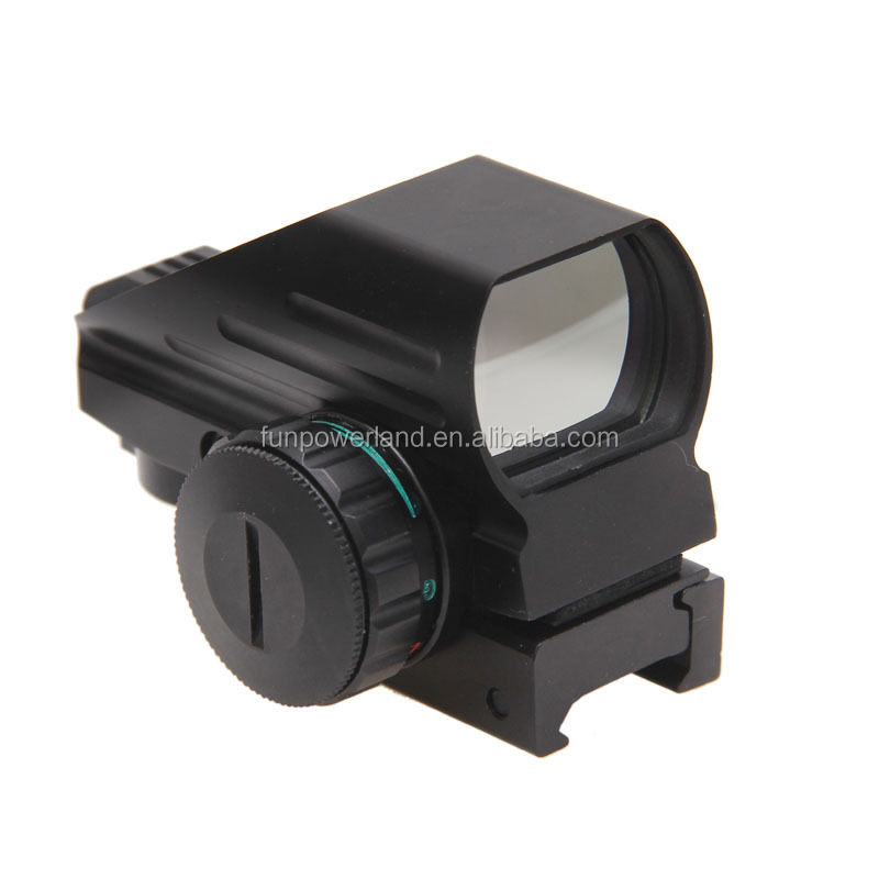 Funpowerland Hunting Optics 1x22x33 Compact Reflex Red Green Dot Sight Riflescope 4 Reticle Sight for Airsoft With Weaver 21mm