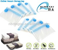 plastic storage bag with two zipper/best for travelling moving or storaging