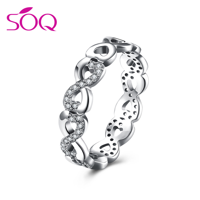 New Luxury Heart Shaped Petals Love Original Jewelry Silver 925 Italian Silver Ring Couple Ring
