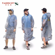 one time use cheap custom pe pocket poncho adult plastic a disposable raincoat