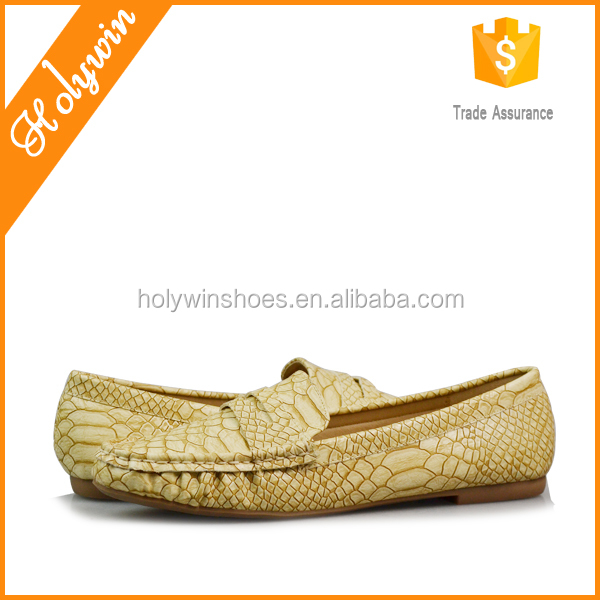 Snake skin PU penny women moccasin shoes,loafer manufacturers
