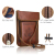 Protective Premium Neck Case for Passport Wallet with RFID Blocking for Security ,brown