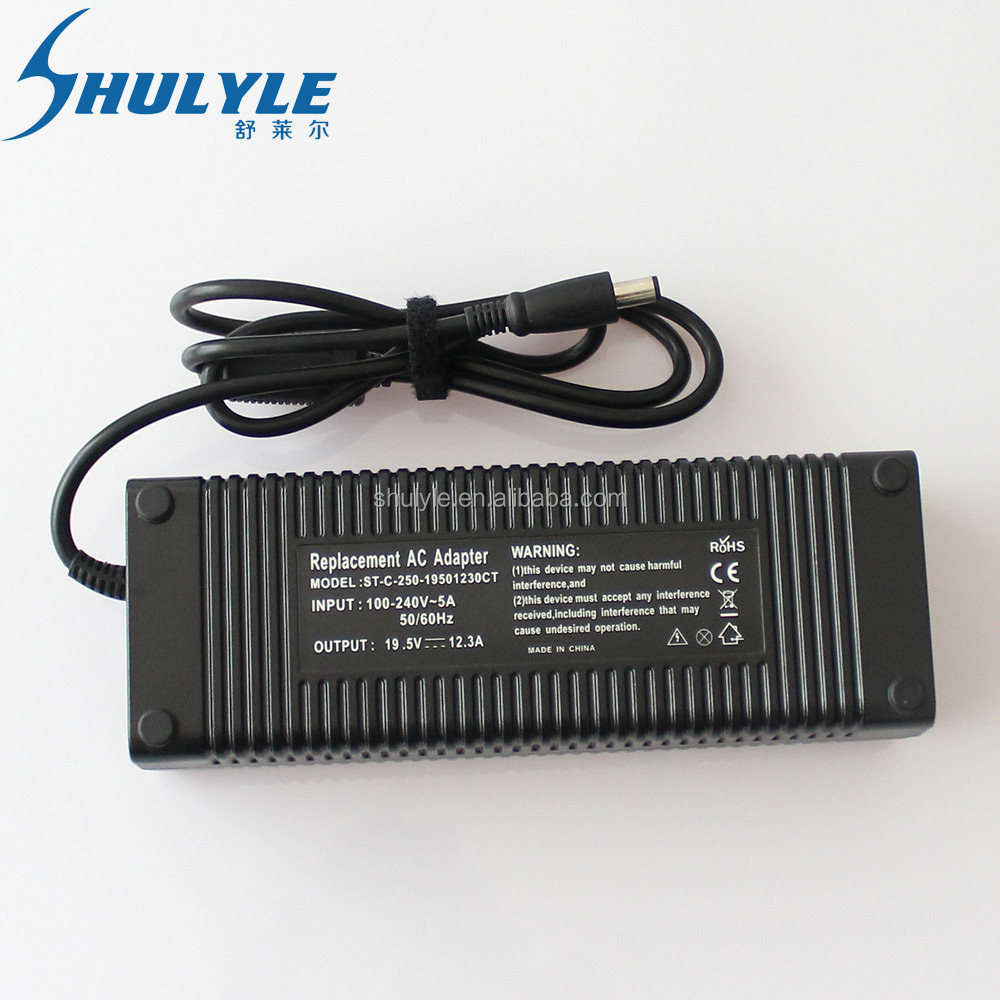 High performance universal Original Laptop Charger 19.5v 12.3a ac dc adapter original 240w for dell netbook ac charger 100v/240v