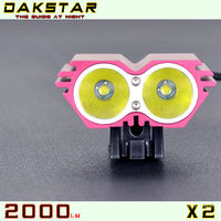 DAKSTAR 2013 Newest Red X2 CREE XML U2 2000LM Good Quatity Super Bright Rechargeable Waterproof Light BMX Bikes For Sale