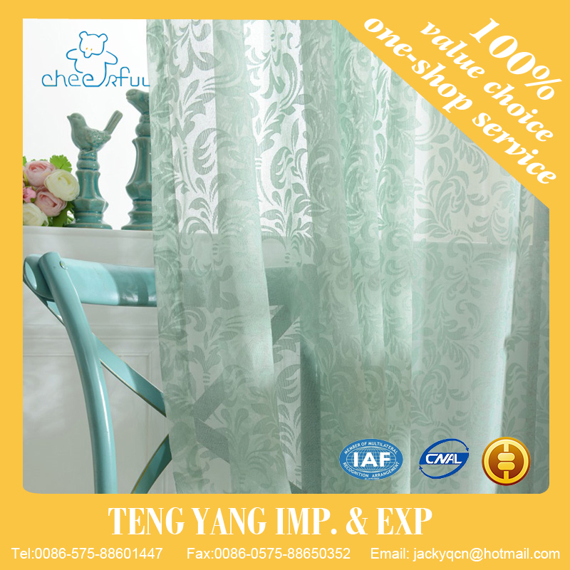 2016 New arrival jacquard style tulle Voile Door Window Curtain for living room bedroom