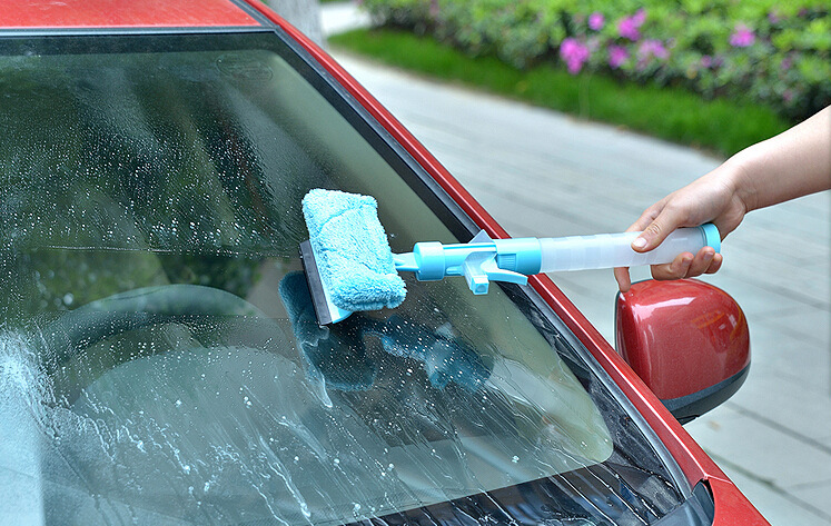 three-in-one spray car window wiper