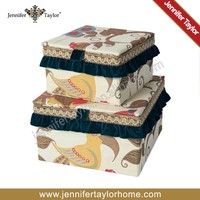 embroidery fabric storage box,bra storage box ,underwear storage box