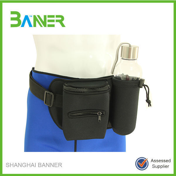OEM Customized outdoor travel Neoprene Mini Waist Bag For Ipad