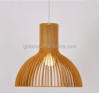 One bulb wooden pendant lamp, led adjustable pendant lamp made in wooden