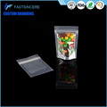 Hot sale zipper stand up aluminum foil pouch clear window