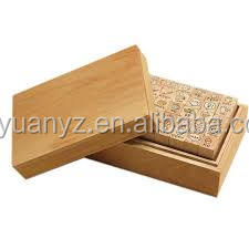 The hot selling rubber material customized wooden stamps set