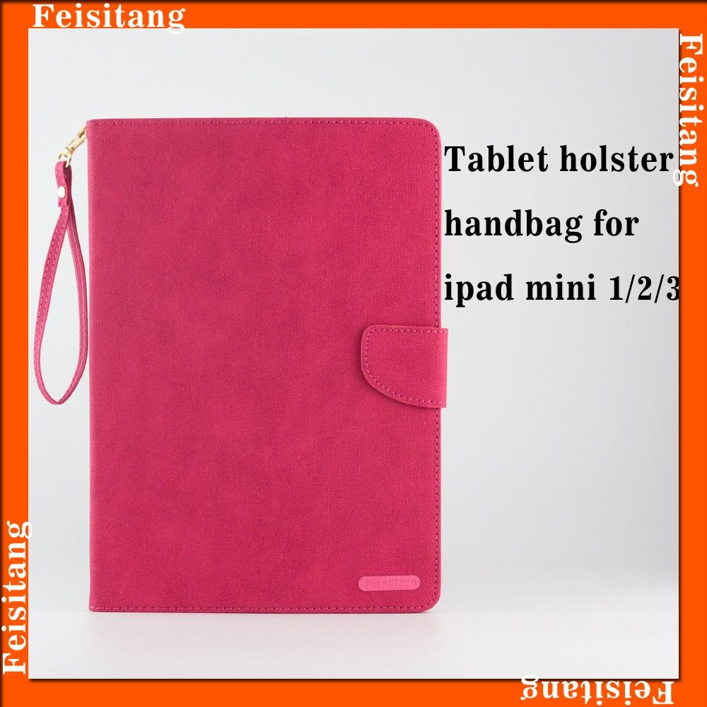 7.9 inch PU leather wallet flip tablet cover cases for ipad mini 4