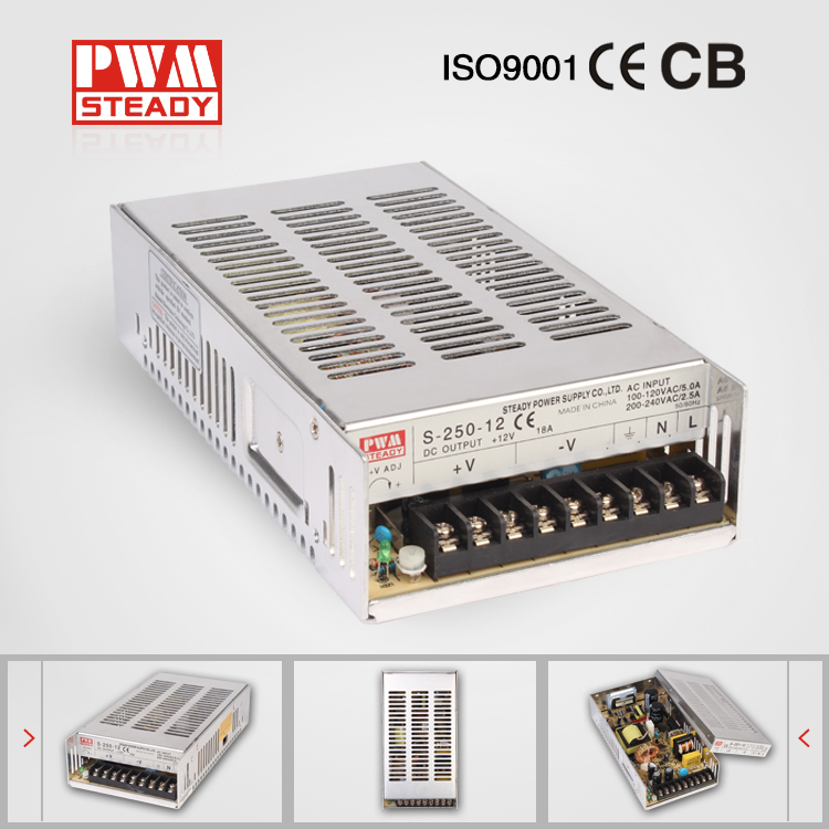 S-250-12 12v 20a switch mode power supply 250W led driver 12v ac dc single output switching power supply