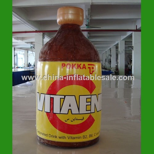 Hot sale inflatable big bottle shape model,advertising inflatable model