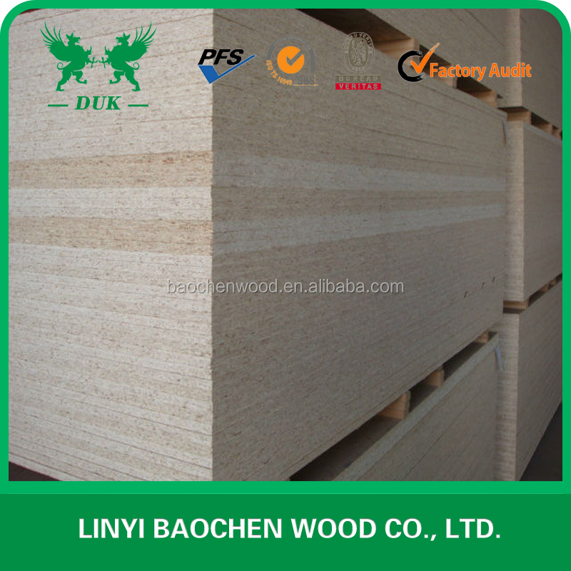 Both sides Melamine impregnated Paper laminated chipboard from Linyi