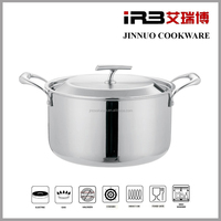 IRB 8-Qt Tri-Ply Clad Stock Pot with Lid, Stainless Steel WOOKWARE 2010