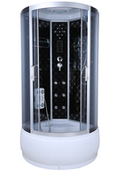 AJL-3808 Printed Glass Round Style New Design Popular Cheap Shower Cabin
