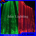 PMMA optic fiber led color changing curtain light with remote control