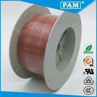 Used in electrical home appliances UL3122 fiberglass braid silicone rubber insulation wire
