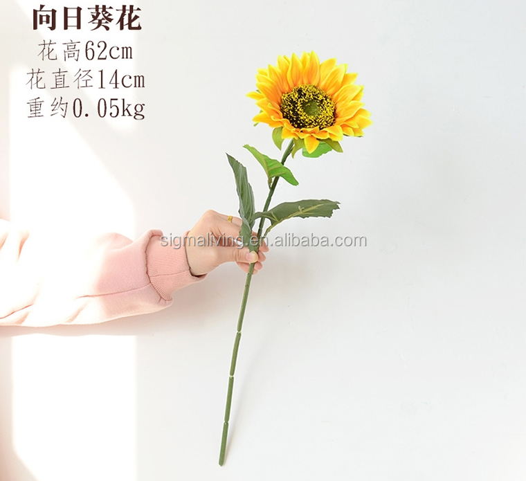 Hot artificial sunflower living room decorative artificial plastic flowers