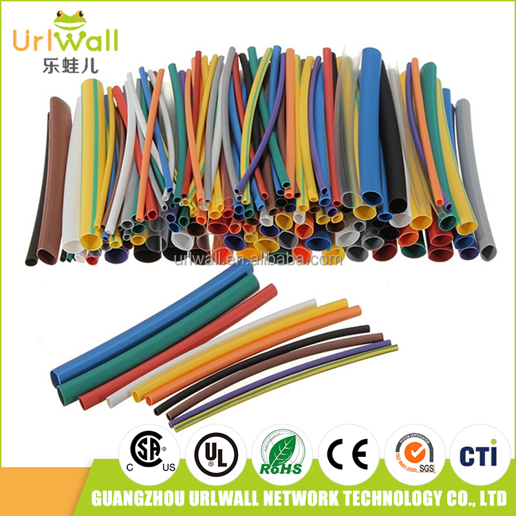 144pcs 2:1 polyolefin heat shrink cable sleeve electrical insulation material heat shrinkable tube