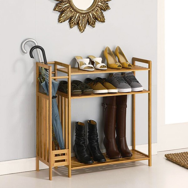 Cheap wood shoe organizer for small spaces