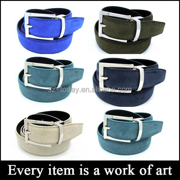 (sz-belt 132) unisex genuine suede belt strap, high quality casual cowboy belt