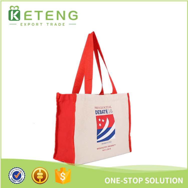 Sublimation durable korean canvas rope handle beach tote bag