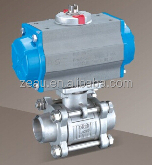 3pc body butt-welding end high platform float ball valve