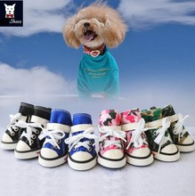 Newest protective converse camouflage pet dog shoes