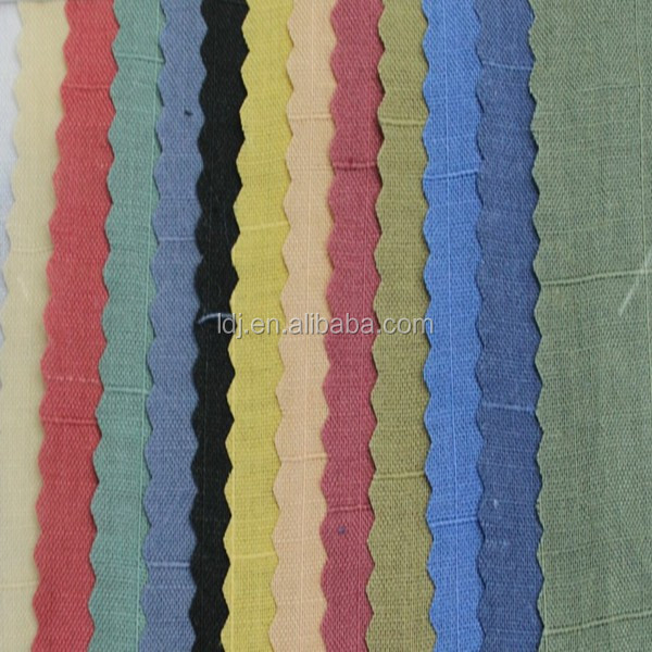 ramie 100% woven dyed fabric