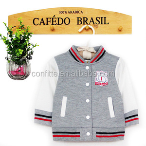 Cheap polyester kids/baby baseball jacket wholesale/toddler jackets
