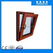 Wood and aluminum composite profile made by 6063-T5 aluminium alloy ingots